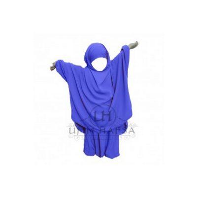 Jilbeb fillette Umm Hafsa Bleu électrique