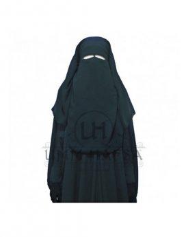 Sitar niqab 3 voiles Umm Hafsa 1m50 noir