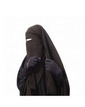 Sitar niqab cape à clips Umm Hafsa Marron