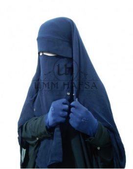 sitar niqab casquette à clips umm hafsa Bleu marine