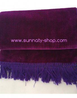 tapis de prière velours uni violet