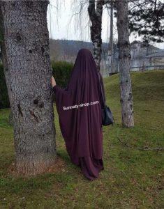 Jilbeb à clips 2 pièces Prune Umm Hafsa Sunnaty-shop