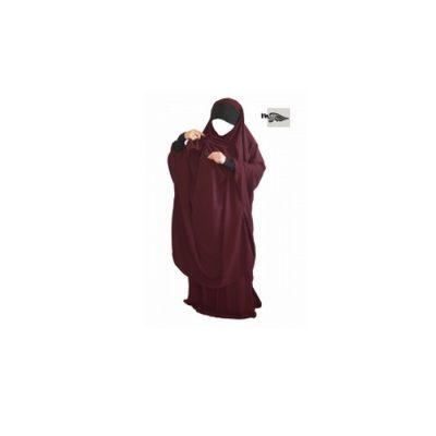 jilbab allaitement mouhajiroun khadija tissu Caviary Prune