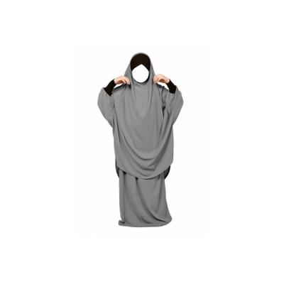 Jilbeb fillette Mouhajiroun jupe gris