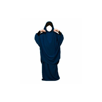 jilbeb fillette mouhajiroun jupe bleu marine