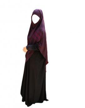 foulard jilbeb extra long safiya aubergine