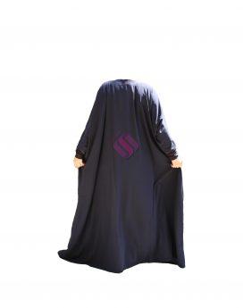 abaya à poches Sunnaty bleu marine