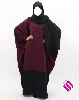 Abaya papillon bi-color