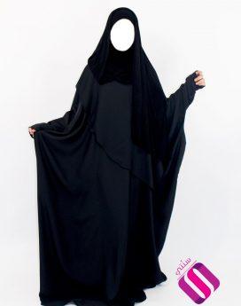 abaya papillon allaitement noir