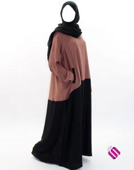 Abaya Sharjah bi-color Al Moultazimoun