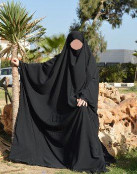 Big Jilbab 1 pièce Umm hafsa noir