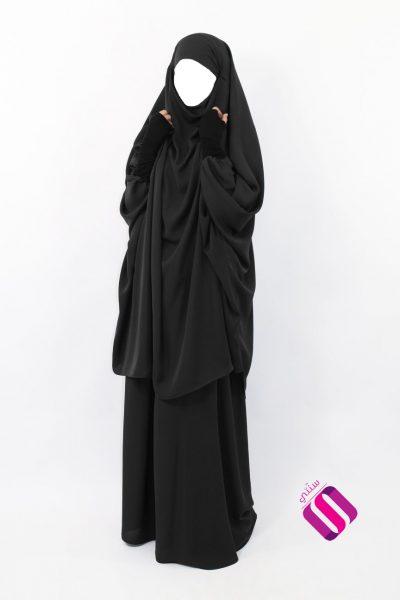 Jilbab Makkah avec bandeau Nidha