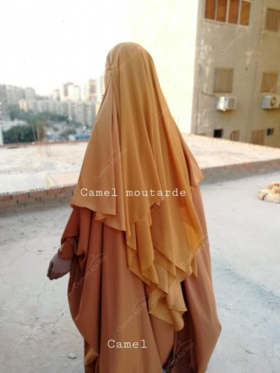 khimar 3 voiles bint.a camel moutarde