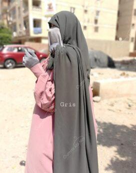 maxi hijab rectangulaire en mousseline royale