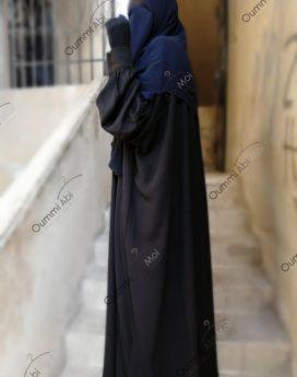 Abaya à Manches Bint.a tissu semi Caviary
