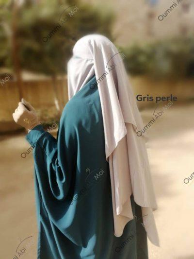 Niqab 3 voiles Gris perle Bint.a