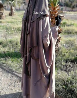 Niqab 3 voiles Taupe bint.a