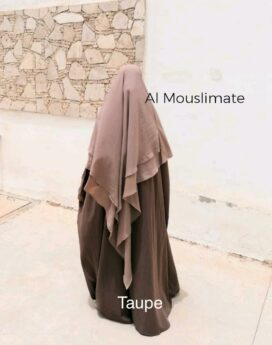 Abaya manches droites kaki