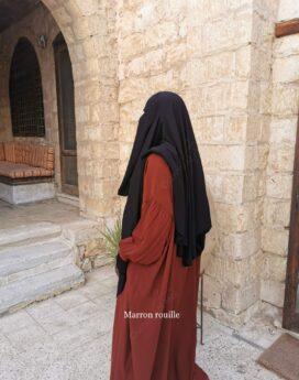 Abaya à Manches Bint.amarron rouille