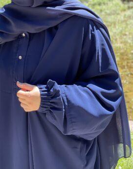 Abaya soumaya oversize as modesty bleu marine