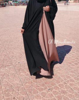 Abaya kimono Saphir dar al iman noir