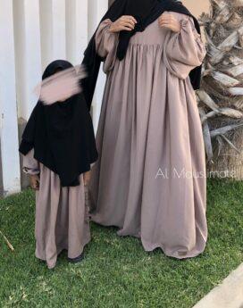 Abaya Russia tissu Wool Peach Dar Al Iman